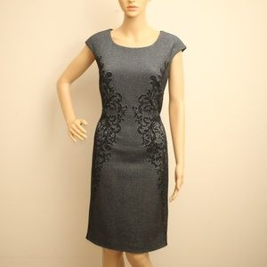 8abcc8d4e18c1 NEW Simon Chang Vintage Baroque Sheath Dress M